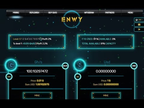 How to mine Free Gh/s, USD, BTC, LTC, DOGE - 100 Gh/s Free - Enwy.io