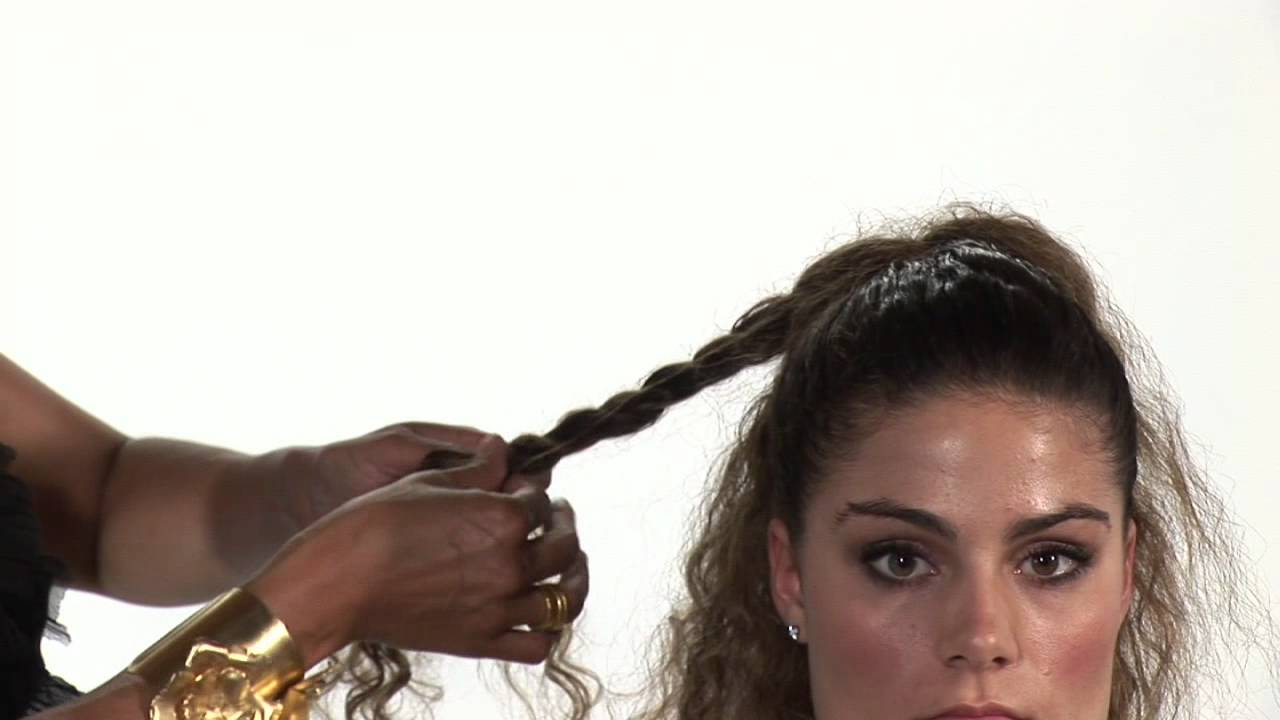 Hairstyles for Curly Hair : Easy Updos for Curly Hair - YouTube