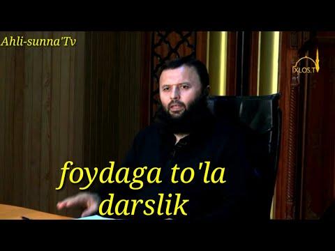 Foydaga to'la darslik...Shayx Sodiq Samarqandiy