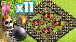 Clash Of Clans - ALL WALLBREAKER  x11 HASTE TROLL (Insane Raids)