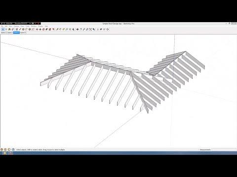 Simple Roof Design in Sketchup