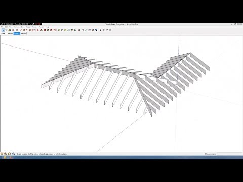 Simple Roof Design In Sketchup Youtube