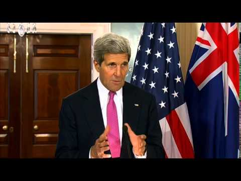 Secretary Kerry Delivers Remarks with New Zealand Prime Minister Key