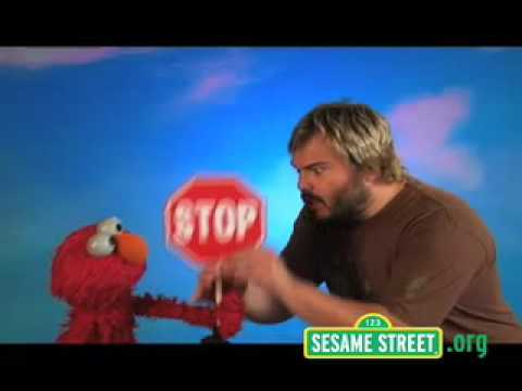 Sesame Street elmo Jack Black Octagon - YouTube Jack Black Stop Sign