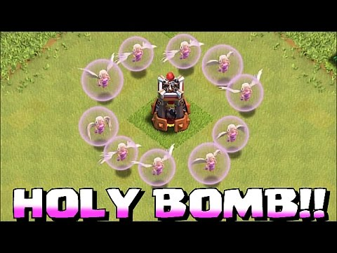 Clash Of Clans - HOLY BOMB TOWER TROLL!! (Healers w/ Gobs and the bomb  tower)