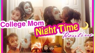 college mommy night time routine 4 year old gets a face mask