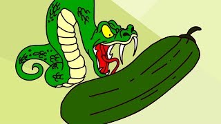 A Snake Ate His Cucumber