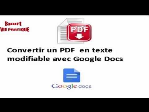 Comment convertir un PDF en texte modifiable avec Google Docs