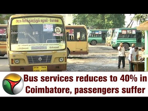 Bus services reduces to 40% in Coimbatore, passengers suffer