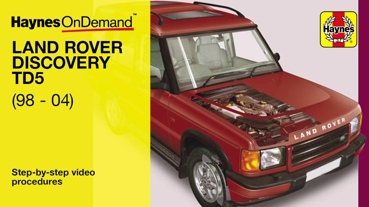 Fix your Land Rover Discovery diesel (1998 - 2004) with Haynes's video  tutorials