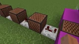 """!!!""""розовое вино"""" - на нотных блоках minecraft!!!"""