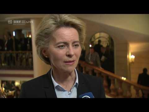 20170218 Münchner Sicherheitskonferenz Interview mit Ursula von der Leyen, Verteidigungsminister