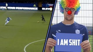 HILARIOUS SHEFFIELD WEDNESDAY DEFENDING | Glenn Loovens falls over the ball and player | FAIL