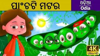ପାଂଚଟି ମଟର   Five Peas in a Pod in Odia   Odia Story   Fairy Tales in Odia   Odia Fairy Tales