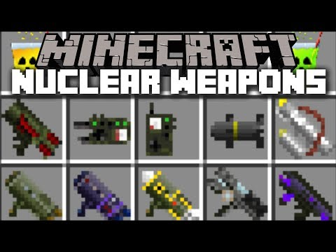Minecraft NUCLEAR WEAPONS MOD / FIGHT AND SURVIVE THE NUCLEAR ATTACK!! Minecraft