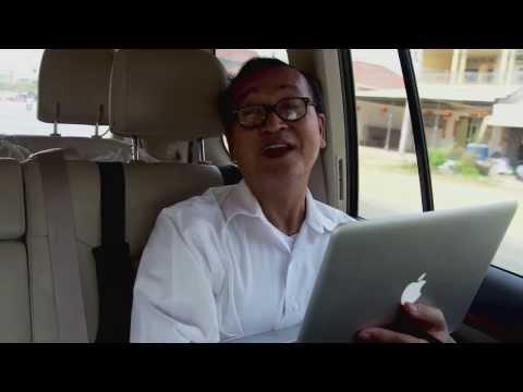 Sam Rainsy visits Kampong Speu with Kem Sokha, 13th Feb 2014