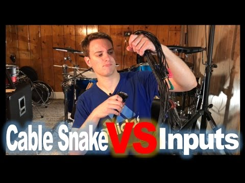 Electronic Drumset Individual Inputs VS Cable Snakes (DB25)