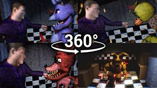 360°| FNAF3 Mini Game Compilation - Animatronic Perspective View [SFM] (VR Compatible)