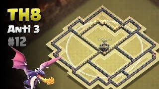 Clash of Clans ⚫ TH8 Anti 3 Star War Base #12 ⚫ No CC Lure