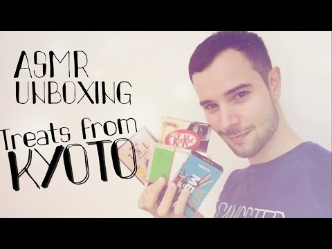 ASMR KYOTO treat UNBOXING (tapping, crinkles)