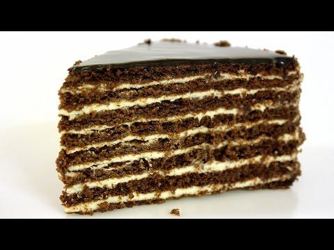 Торт Спартак Шоколадно-медовый торт со сметанным заварным кремом.