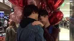 Cutest Long Distance Gay Relationship Reunion