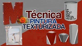 Técnica pintura texturizada Acabado cemento