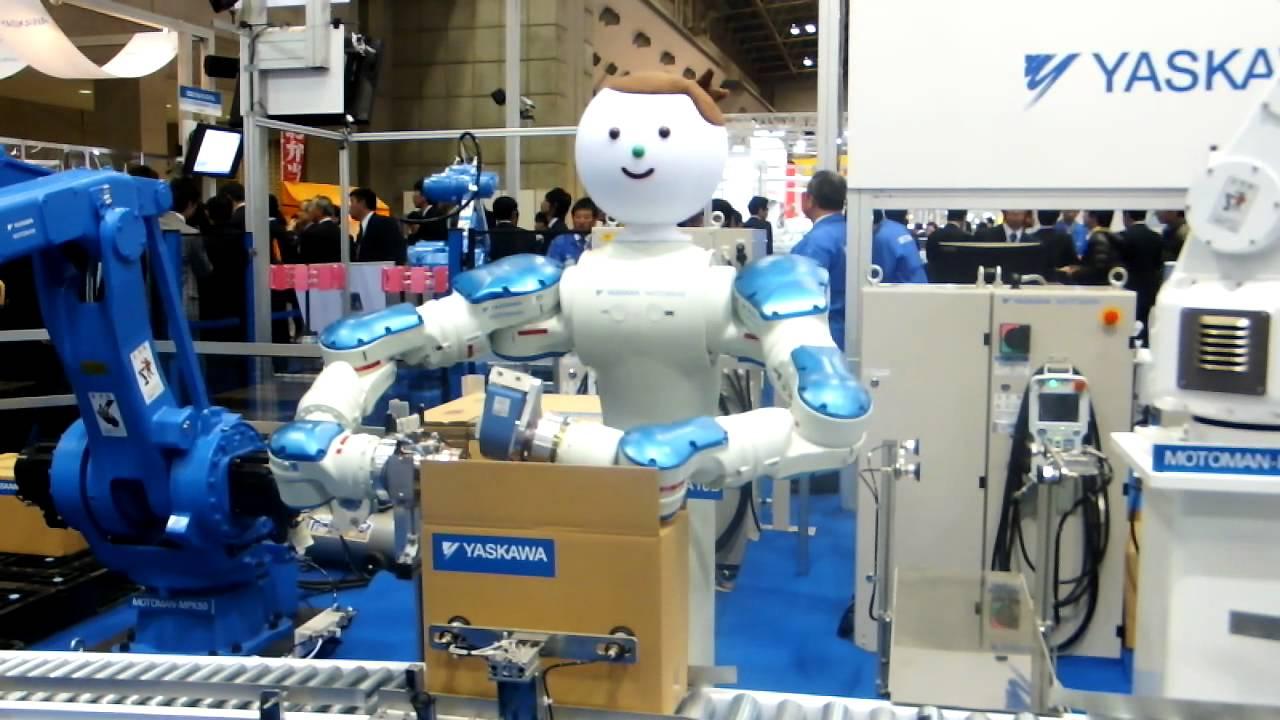 双腕ロボによる段ボール箱の組立(安川電機、yaskawa) Youtube