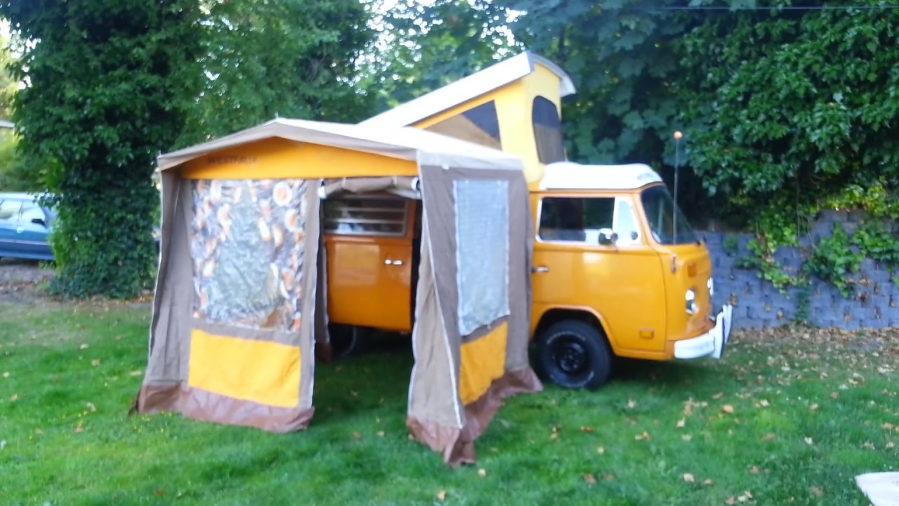 1977 VW Westfalia Stand Alone Side Tent for the C&er C&mobile & 1977 VW Westfalia Stand Alone Side Tent for the Camper Campmobile ...
