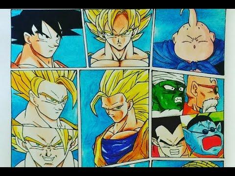 Drawing Dragon Ball Z Manga | Goku SSJ3