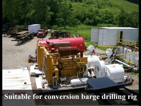 Selling 1100hp drilling rig. Suitable for conversion to barge rig. 1.395.000usd
