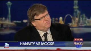 ROUND 2: Michael Moore on The Sean Hannity Show, Friday, October 9th, 2009