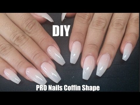 DIY Professional Coffin Nails (LONG LASTING) How To Coffin Shape Nails
