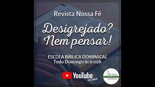 Escola Bíblica Dominical - 03.01.2021