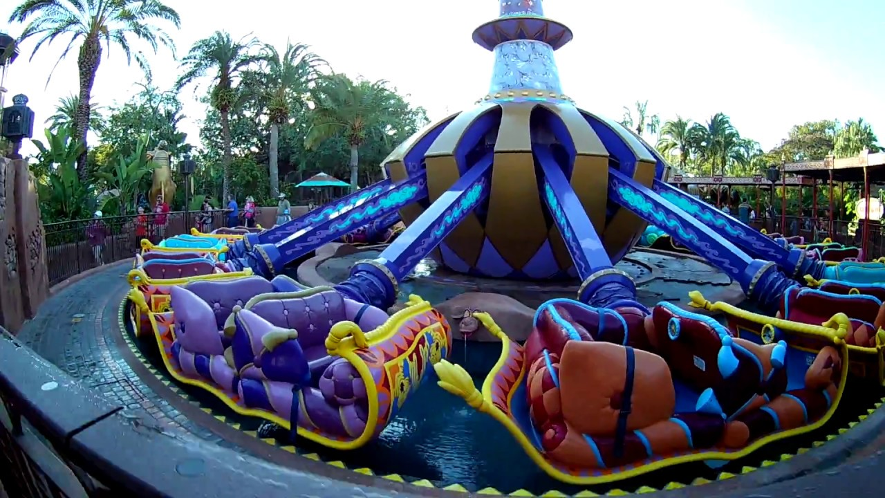 Ride Footage Of The Magic Carpets Of Aladdin At Disney S