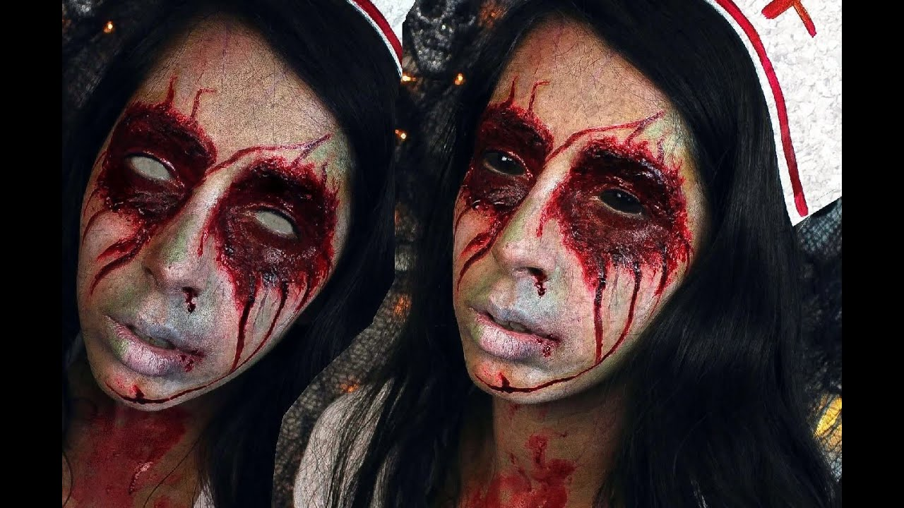 Halloween Makeup: Silent Hill Nurse Lisa Garland - YouTube