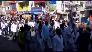 राजस्थान की भाजपा सरकार के खिलाफ निकली रैली @ जालोर