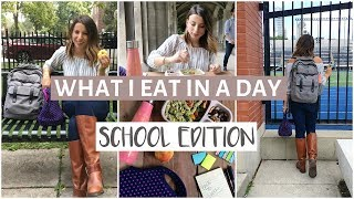 What I Eat In a Day at School | EASY & Healthy Meals for BACK TO SCHOOL