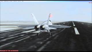 Flight Simulator X [FA 18] Landungauf dem Kansas City International Airport