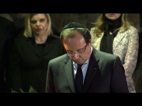 Israël: Hollande se recueille au mémorial Yad Vashem