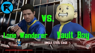 Gambar cover Fallout WWE2K16 Match | Lone Wanderer vs. Vault Boy | Cage Match