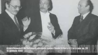 Arturo Benedetti Michelangeli a Bregenz suona Chopin Scherzo n. 1 in si min. op. 20