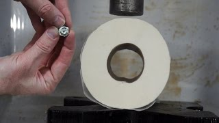 Toilet Paper Turned To Solid Stone In Hydraulic Press With Fan Suggestions thumbnail