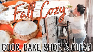 FALL CROCKPOT RECIPE PLUS | APPLE BUTTER COOKIES | COOK SHOP AND CLEAN | Cook Clean And Repeat