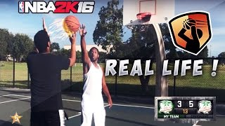 NBA 2K16 MYPARK IN REAL LIFE ! + BANNED ON NBA 2K17 BY RONNIE2K FOR DOING A LEGEND 5 GLITCH