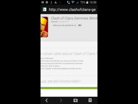 Hack de clash of clans facebook ne marche pas