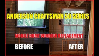 #2019 $5000 SINGLE WIDE MOBILE HOME RENOVATION EP.14 BATHROOM ANDERSON CRAFTSMAN WINDOW REPLACEMENT