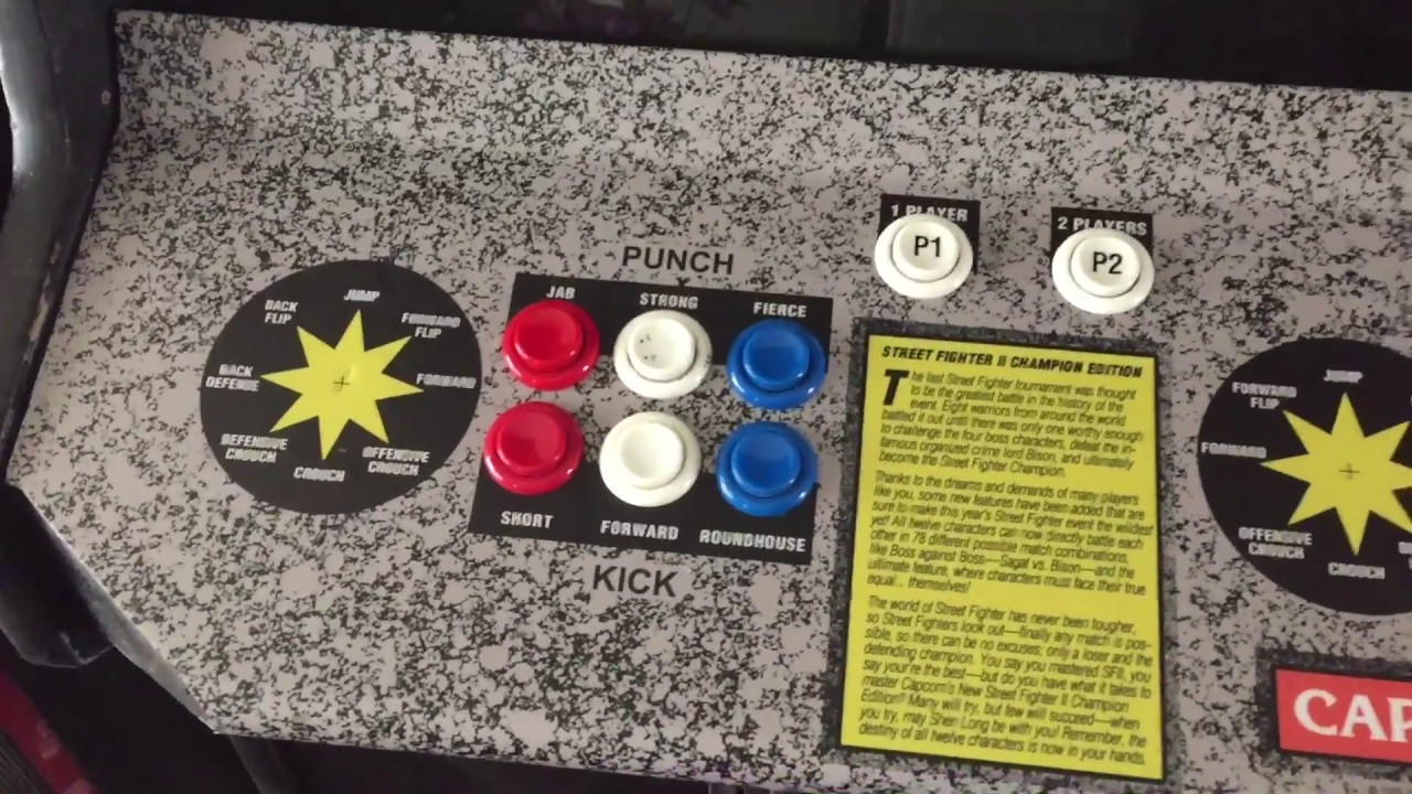 STREET FIGHTER 2 CE ARCADE CONTROL PANEL OVERLAY REPLACEMENT