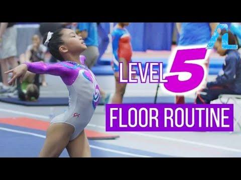 Alizé Lee | USA Gymnastics Level 5 Floor Routine