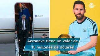 Así es el lujoso avión de Lionel Messi que Alberto Fernández rentó para viajar a México
